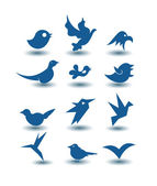 Bird icons — Stock Photo