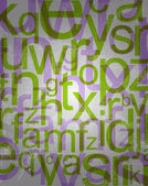 Abstract background with colorful letters — Stock Photo