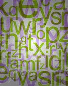 Pozadí abstraktní s barevnými písmeny — Stock fotografie