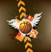 篮球广告海报. — 图库照片