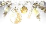 рождественские украшения стилизованные мяч. — Стоковое фото