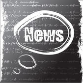 Word news written with a chalk. grunge background. — Stock Photo
