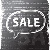 Word sale written with a chalk. grunge background. Raster version — Stock Photo