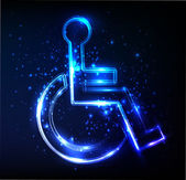 Disabled sign vector — Stock Photo