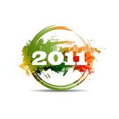 Selo de ano novo 2011. versão raster — Fotografia Stock