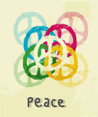 Illustration of peace sign — Stock Photo