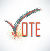 Vote text with check mark — Stock Photo