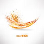 抽象橙色波 — 图库照片