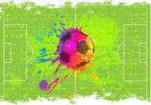 Hedendaagse kunst. Voetbal achtergrond — Stockfoto