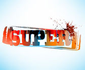 SUPER Grunge Text. Raster version — Stock Photo