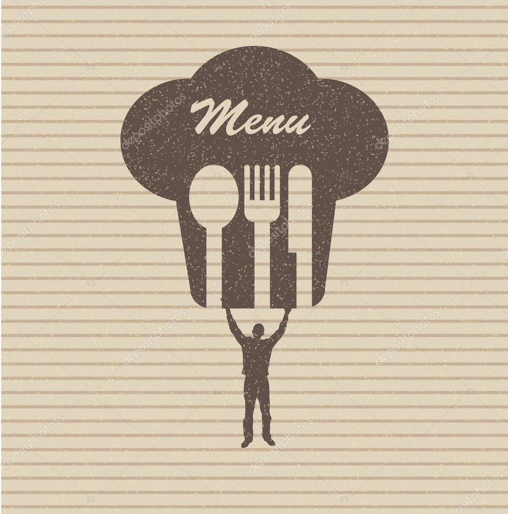 Restaurant menu retro poster — Stock Photo #13754519