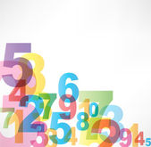 Numbers Background — Vecteur