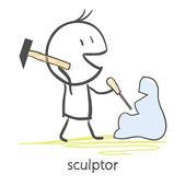 Scultore — Vettoriale Stock