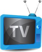 Retro tv-hintergrund — Stockvektor