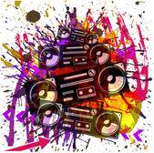Grunge vector musical design background — Stock Vector