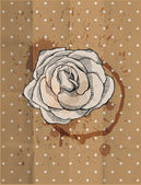 Vintage-design. tea rose. grunge hintergrund — Stockvektor