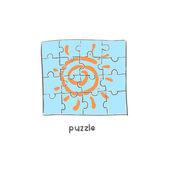 Puzzle. Illustration. — Stock Vector