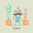 Vector de stock : Choice