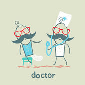 Doctor and patient — Stock Vector