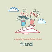 Amici dei cartoni animati — Vettoriale Stock