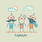 Hipsters — Stock Vector