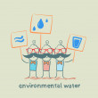 Stock Vector: Environmental water