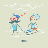 Pareja de enamorados — Vector de stock