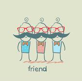 Cartoon friends — Stock Vector