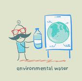 Environmental water — Stock Vector