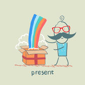 Present — Vettoriale Stock