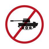 No tanks symbol — Stock Vector