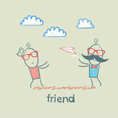 Przyjaciele kreskówka — Wektor stockowy