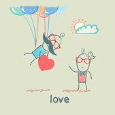 Par i kärlek — Stockvektor