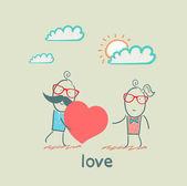Paar in der liebe — Stockvektor