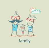 Happy family — Stock Vector