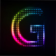 Stock Vector: Disco alphabet. Letter G