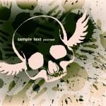 Skull grunge background — Stock Vector #31105817