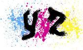 Grunge alphabet. Graffiti — Stock Vector