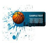 Design banner basketball — Stock Vector