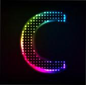Disco alfabetet. bokstaven c — Stockvektor