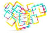 Fondo colorido plazas — Vector de stock