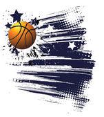 Basketball advertising poster — Stock Vector