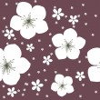 Cute floral seamless background — Imagen vectorial