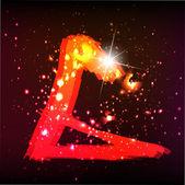 Abeceda světla. písmeno g — Stock vektor