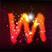 Alphabet Lights. Letter M — Stock Vector