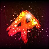 Lumières de l'alphabet. lettre — Vecteur