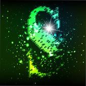 Alfabeto vector verde. letra s — Vector de stock