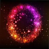 Neon Light Alphabets. Letter O — Stock Vector
