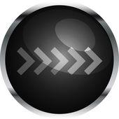 Black vector arrow button — Stock Vector