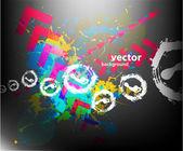 Color splash poster — Stock Vector